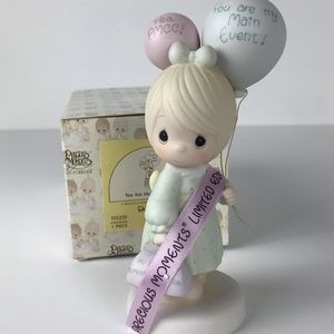 Precious Moments girl with balloons figurine
